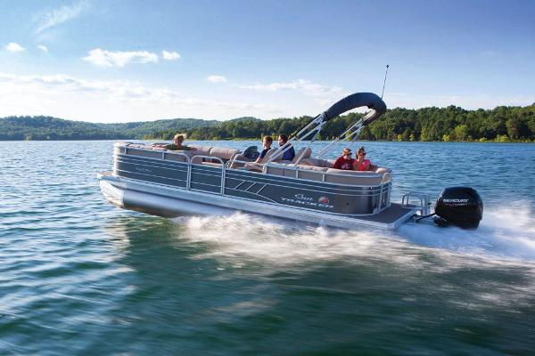 2020 Sun Tracker boat for sale, model of the boat is Party Barge 24 DLX & Image # 5 of 13