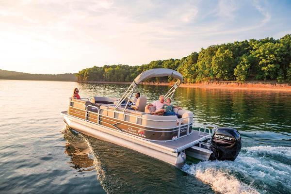 2019 Sun Tracker boat for sale, model of the boat is Party Barge 22 DLX & Image # 10 of 26