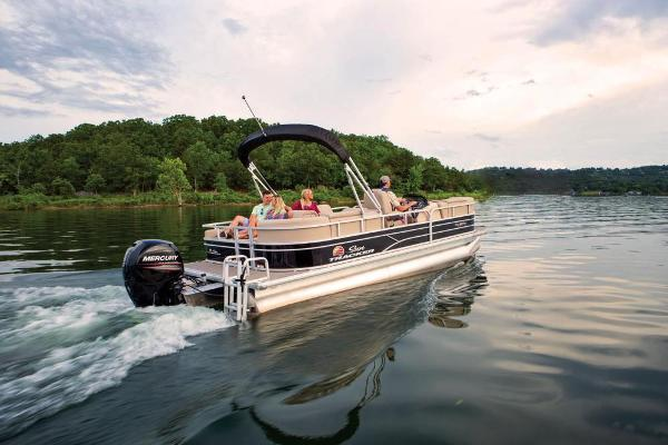 2019 Sun Tracker boat for sale, model of the boat is Party Barge 22 RF DLX & Image # 5 of 28