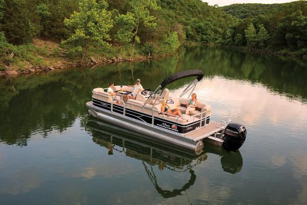 2019 Sun Tracker boat for sale, model of the boat is Party Barge 22 RF DLX & Image # 8 of 28