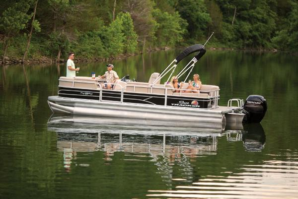 2019 Sun Tracker boat for sale, model of the boat is Party Barge 22 RF DLX & Image # 9 of 28