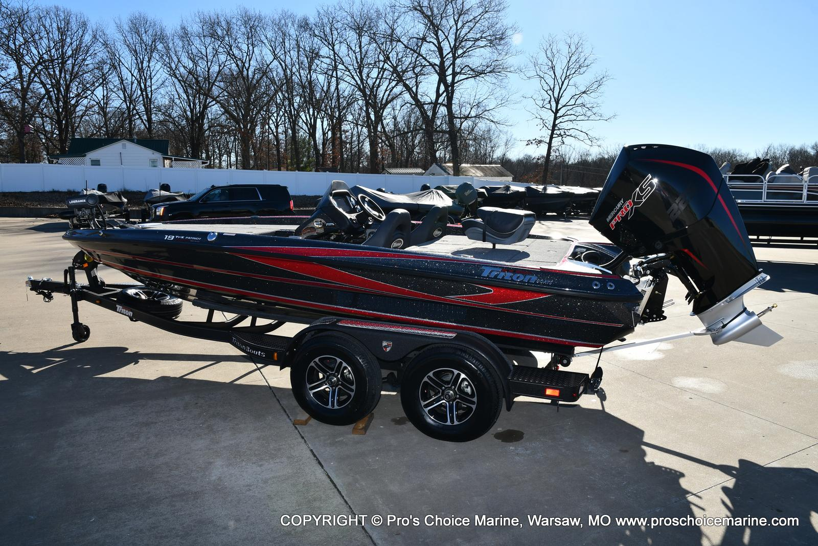 2021 Triton boat for sale, model of the boat is 19 TRX PATRIOT w/225HP PRO-XS & Image # 3 of 50