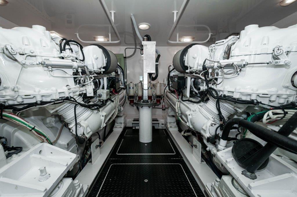 2012 Viking 76 Convertible Engine Room