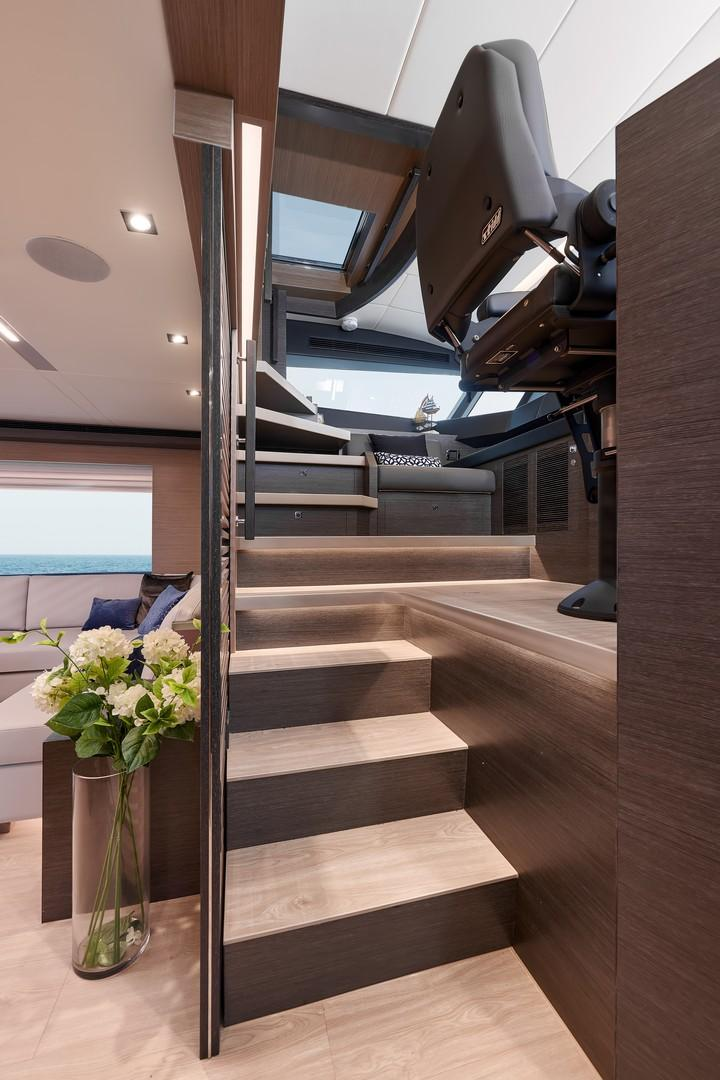 STAIRWELL TO PILOTHOUSE