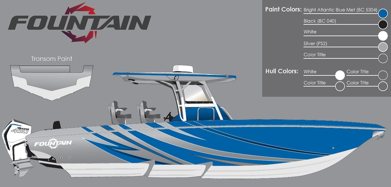 Fountain 34 Sport Center Console