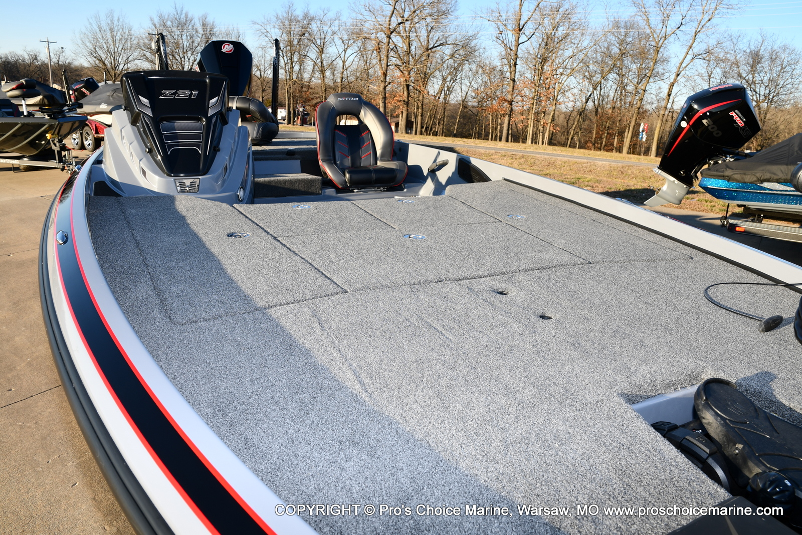2021 Nitro boat for sale, model of the boat is Z21 Pro Package & Image # 37 of 50