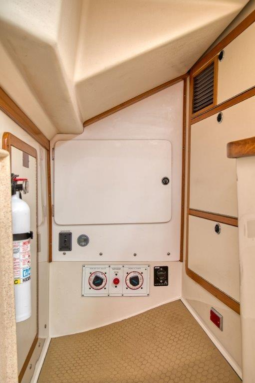 Galley pantry area and engine access