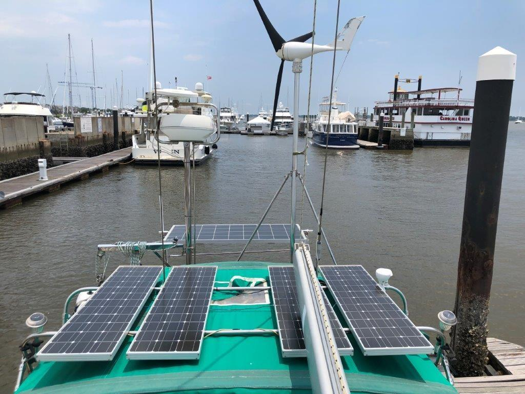 Solar panels and wind generator