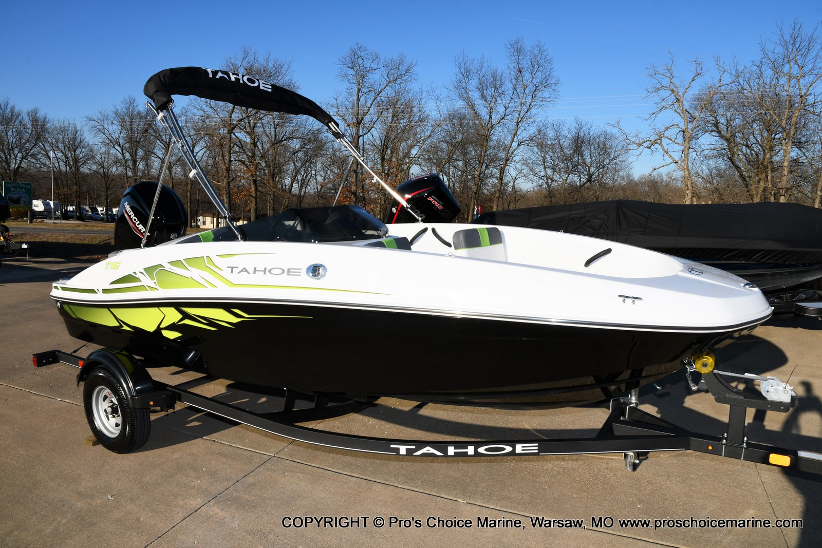 2021 Tahoe boat for sale, model of the boat is T16 w/75HP Mercury 4 Stroke & Image # 1 of 45