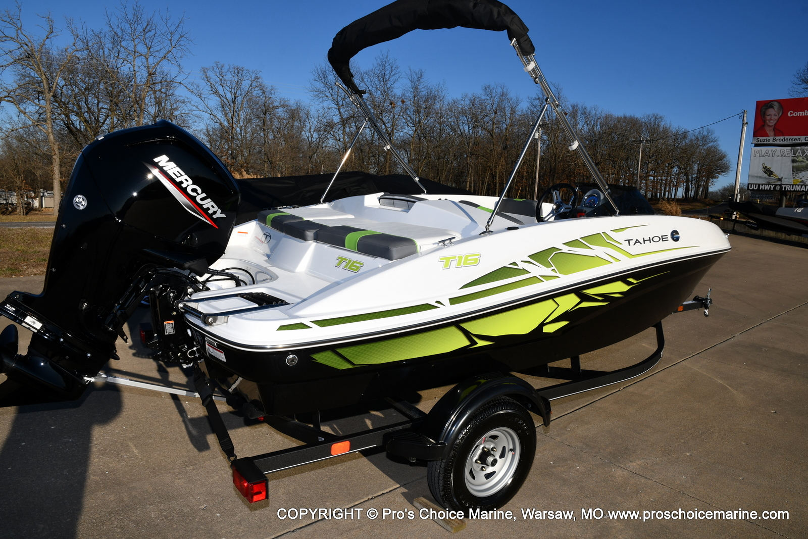 2021 Tahoe boat for sale, model of the boat is T16 w/75HP Mercury 4 Stroke & Image # 2 of 45