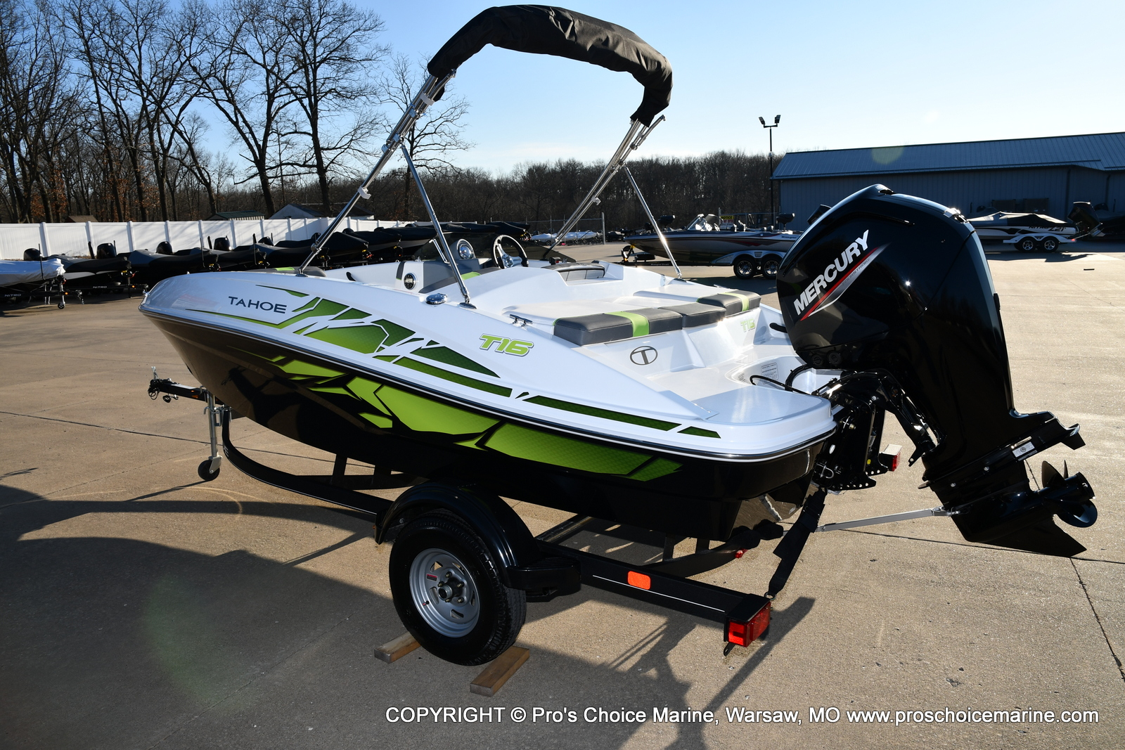 2021 Tahoe boat for sale, model of the boat is T16 w/75HP Mercury 4 Stroke & Image # 4 of 45