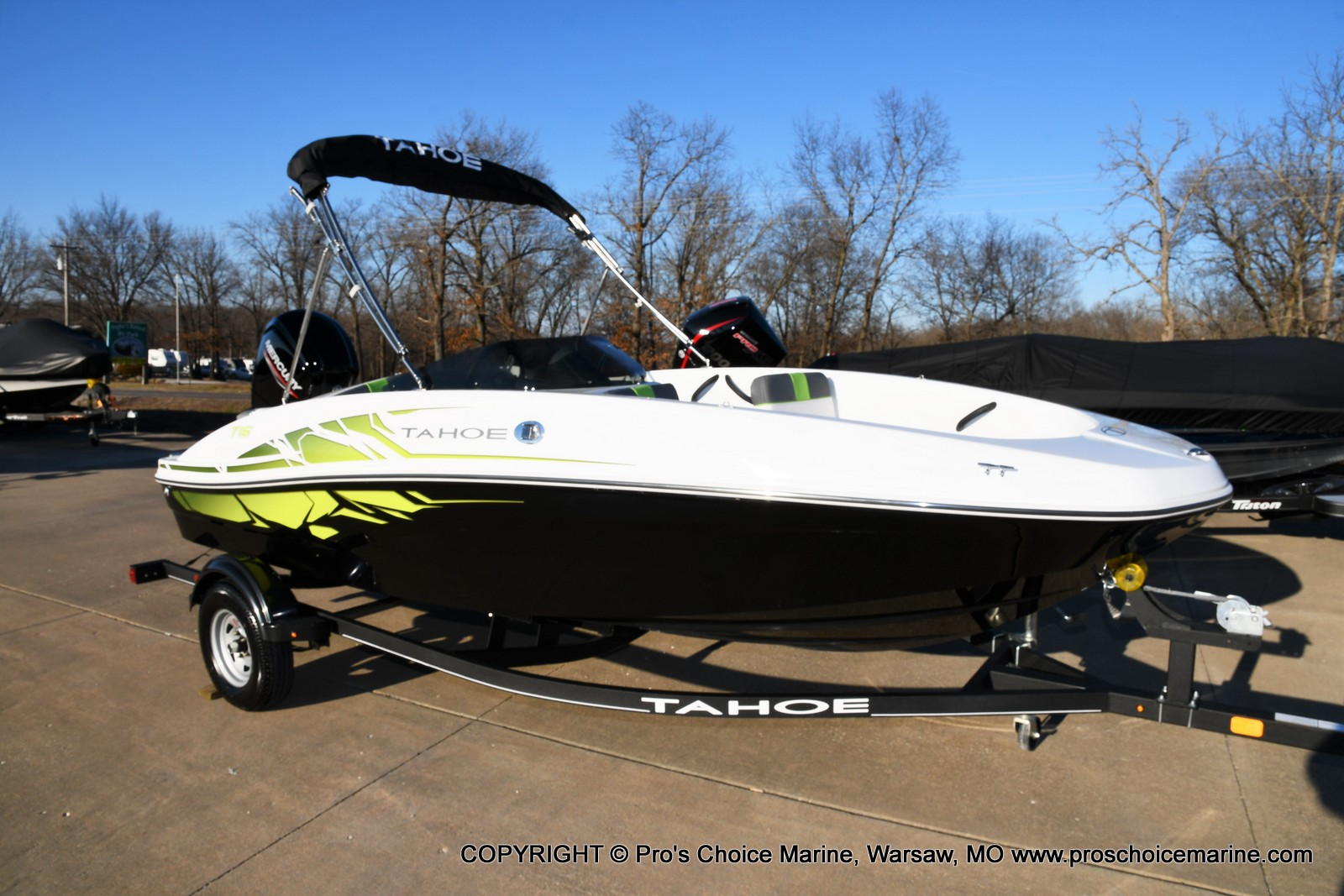 2021 Tahoe boat for sale, model of the boat is T16 w/75HP Mercury 4 Stroke & Image # 39 of 45