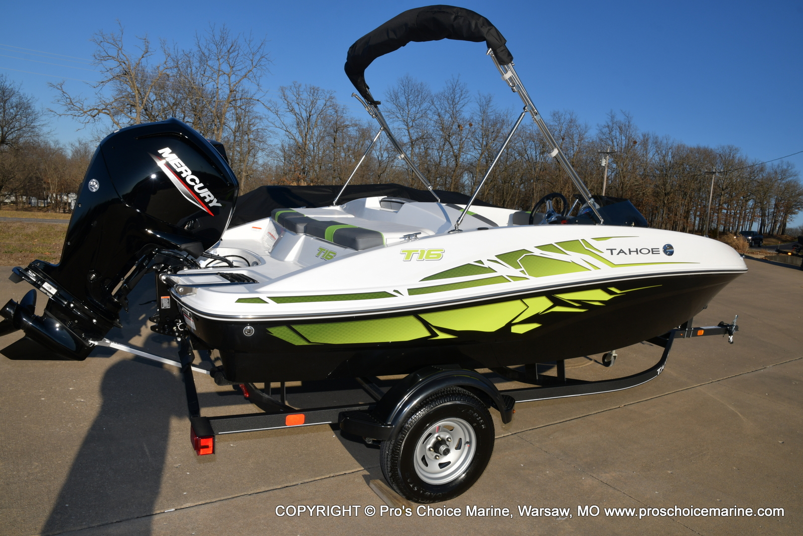 2021 Tahoe boat for sale, model of the boat is T16 w/75HP Mercury 4 Stroke & Image # 33 of 45