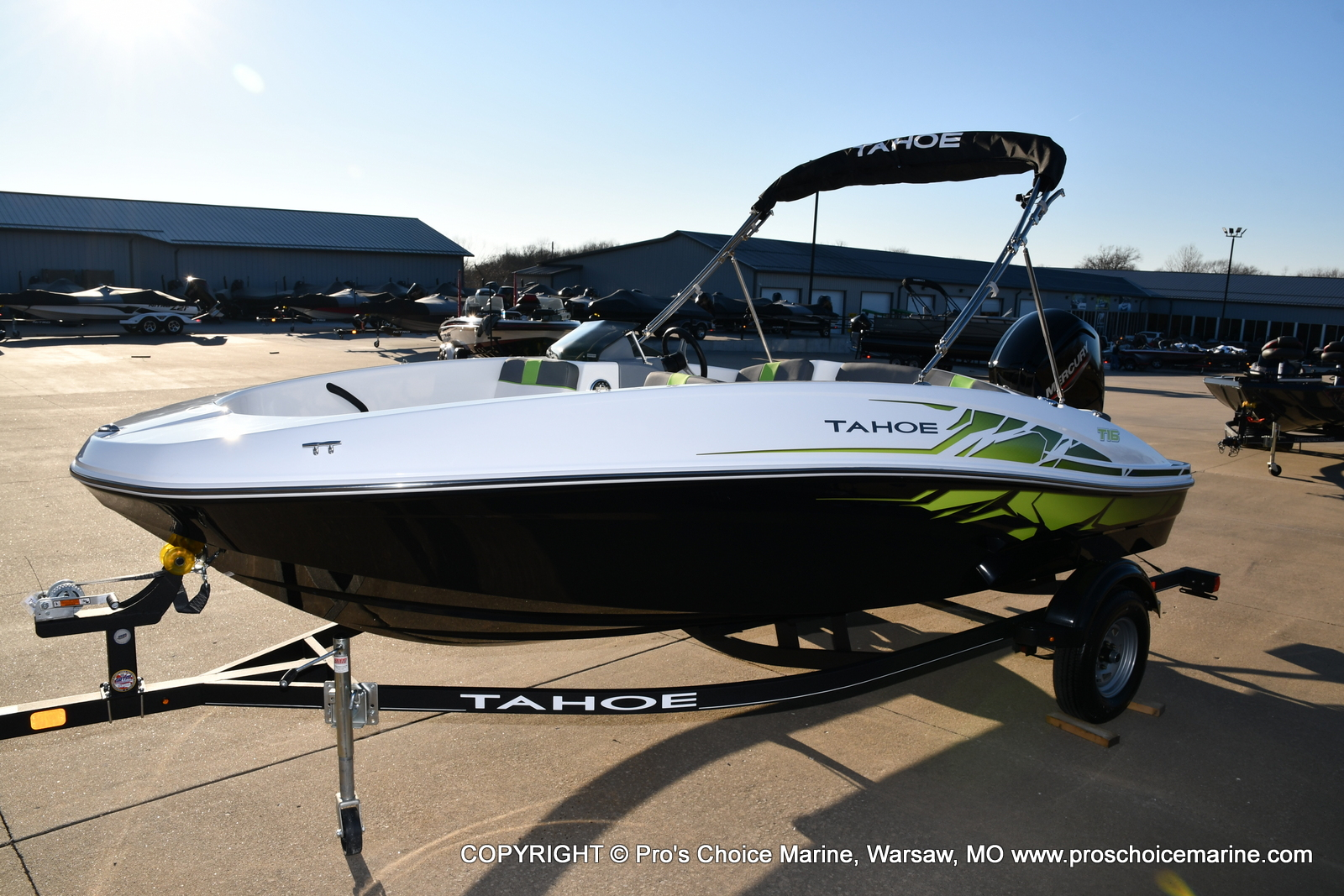 2021 Tahoe boat for sale, model of the boat is T16 w/75HP Mercury 4 Stroke & Image # 34 of 45