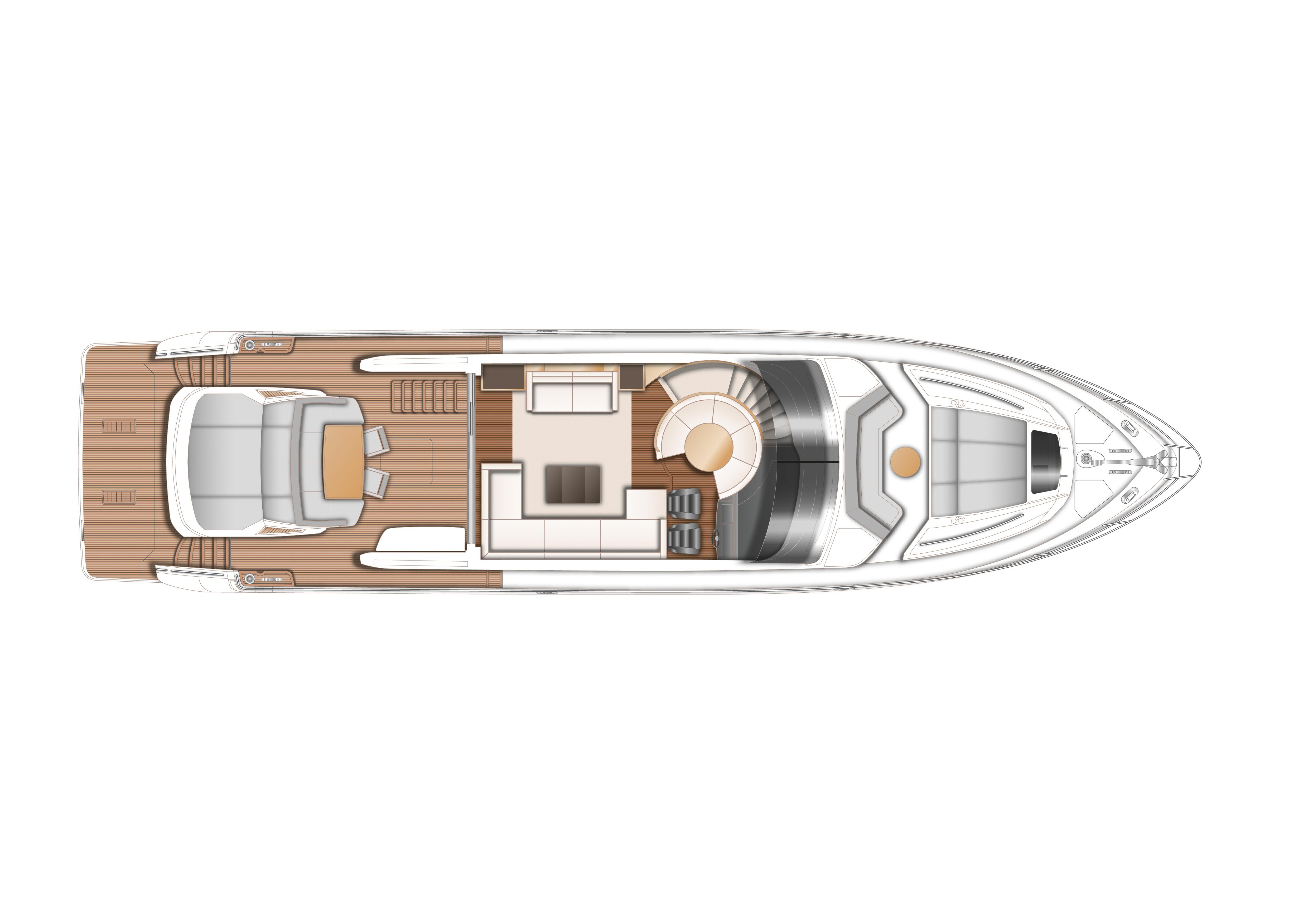 Manufacturer Provided Image: Princess S72 Upper Deck Layout Plan