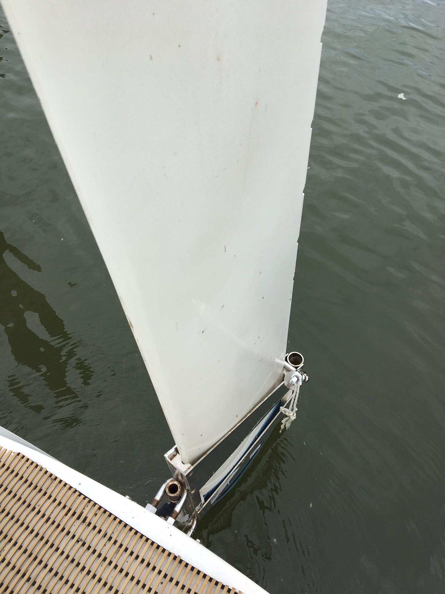 Adjustable depth rudder