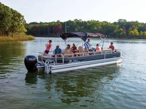 2021 SUN TRACKER Fishin' Barge 24 DLX