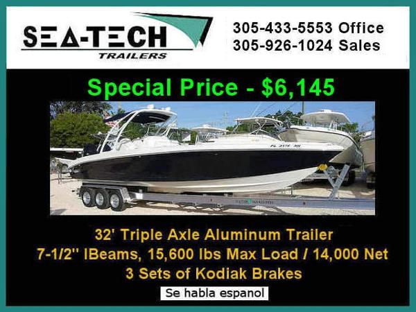 2020 SEA TECH Triple Axle Aluminum Boat Trailer