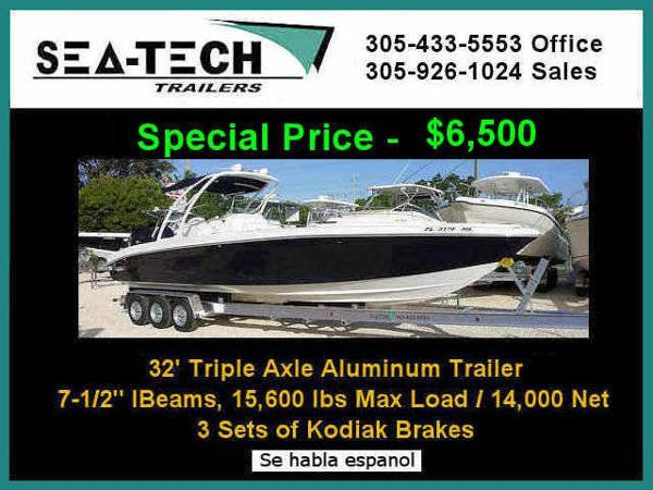 2021 SEA TECH Triple Axle Aluminum Boat Trailer image