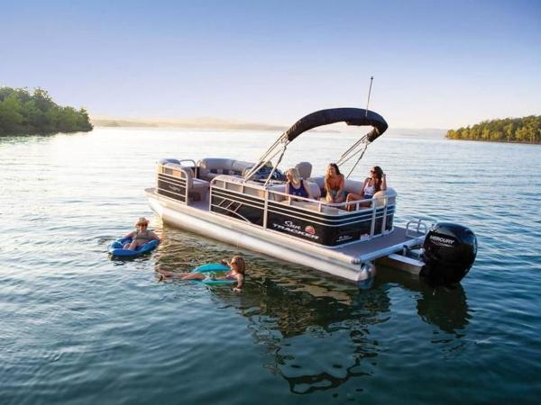 2022 Sun Tracker boat for sale, model of the boat is PARTY BARGE® 22 RF DLX & Image # 1 of 56