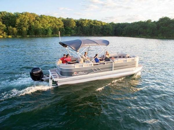 2022 Sun Tracker boat for sale, model of the boat is PARTY BARGE® 24 DLX & Image # 1 of 59