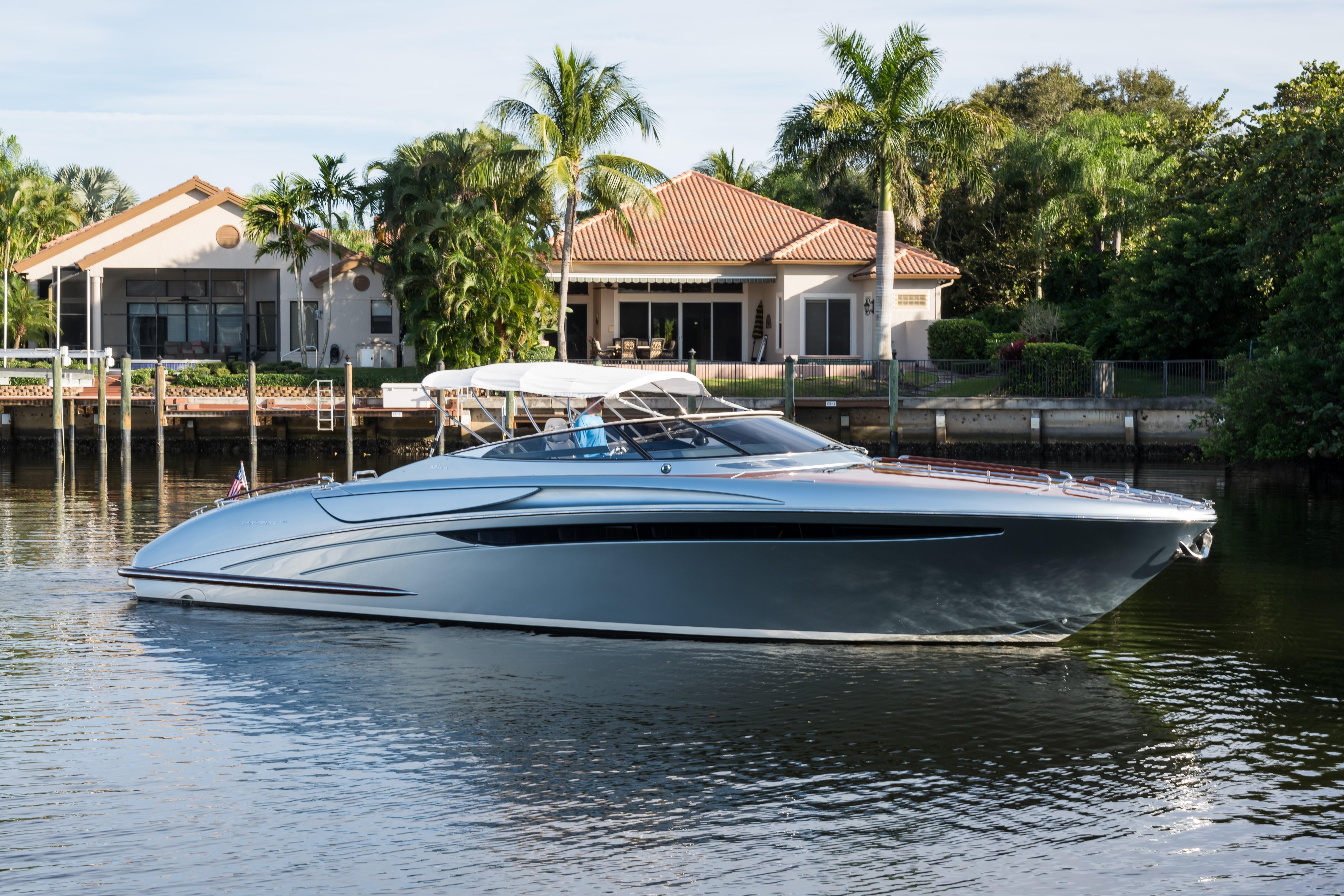 2014 44' Riva Starboard Profile With Bimini Top Up