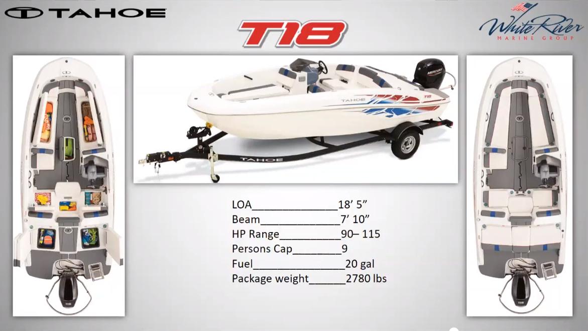 2022 Tahoe boat for sale, model of the boat is T18 w/115HP Mercury Pro-XS 4 Stroke & Image # 37 of 50