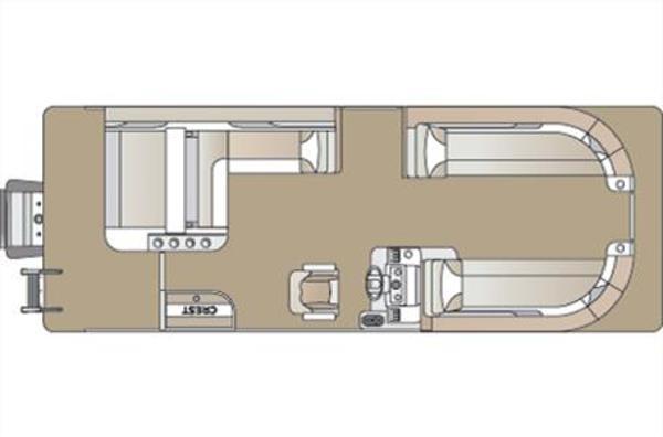 2021 CREST PONTOON BOATS Classic LX 240 SLS