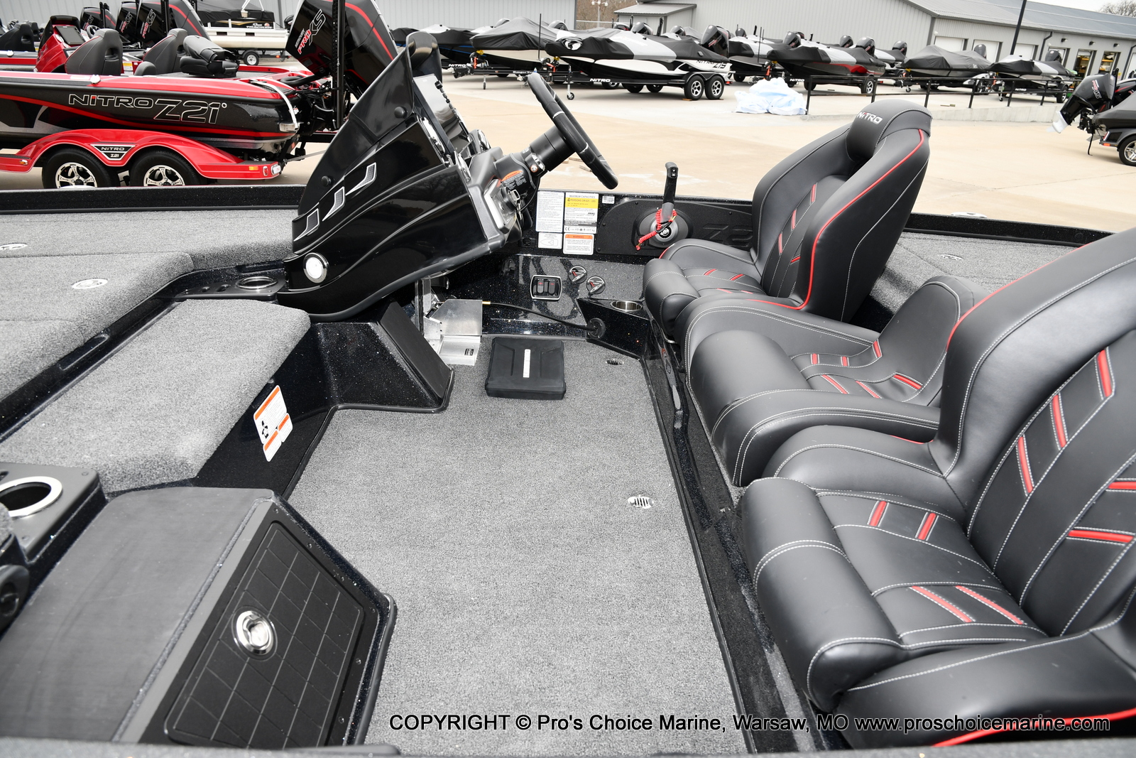 2021 Nitro boat for sale, model of the boat is Z21 Pro Package & Image # 8 of 21