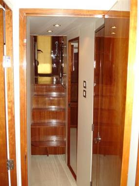 2007 57' Bertram Companionway