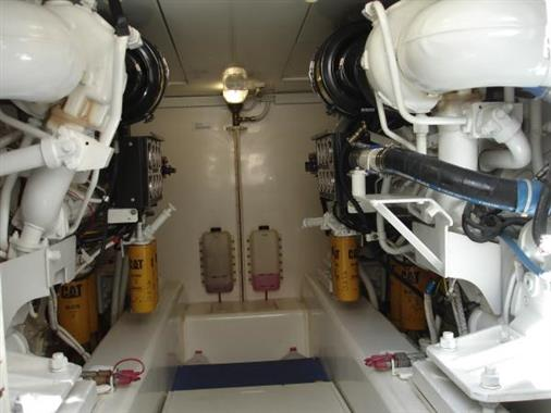 2007 57' Bertram Engine Room
