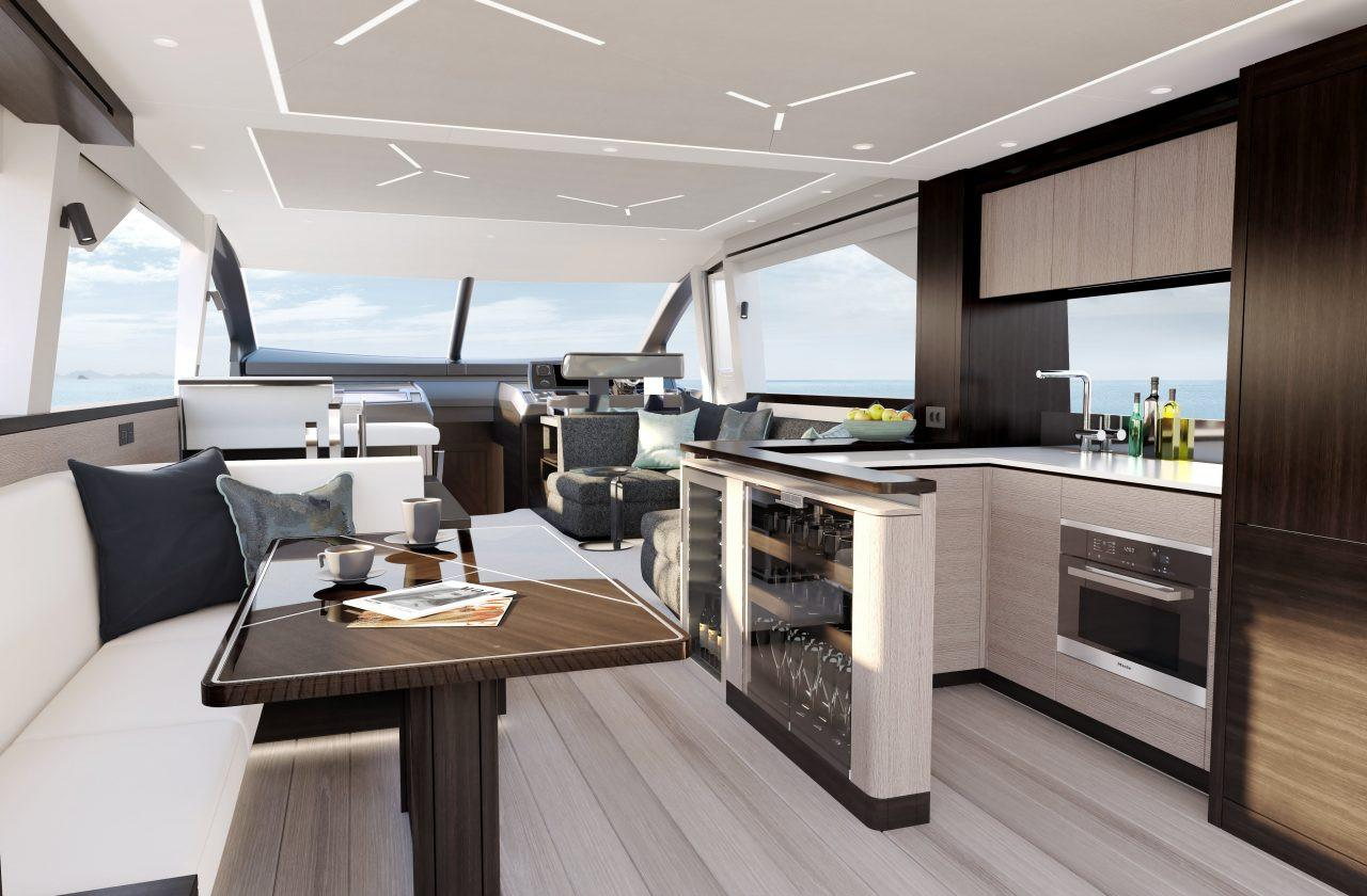 2021 Sunseeker Manhattan 68 #SS619 inventory image at Sun Country Yachts in Newport Beach
