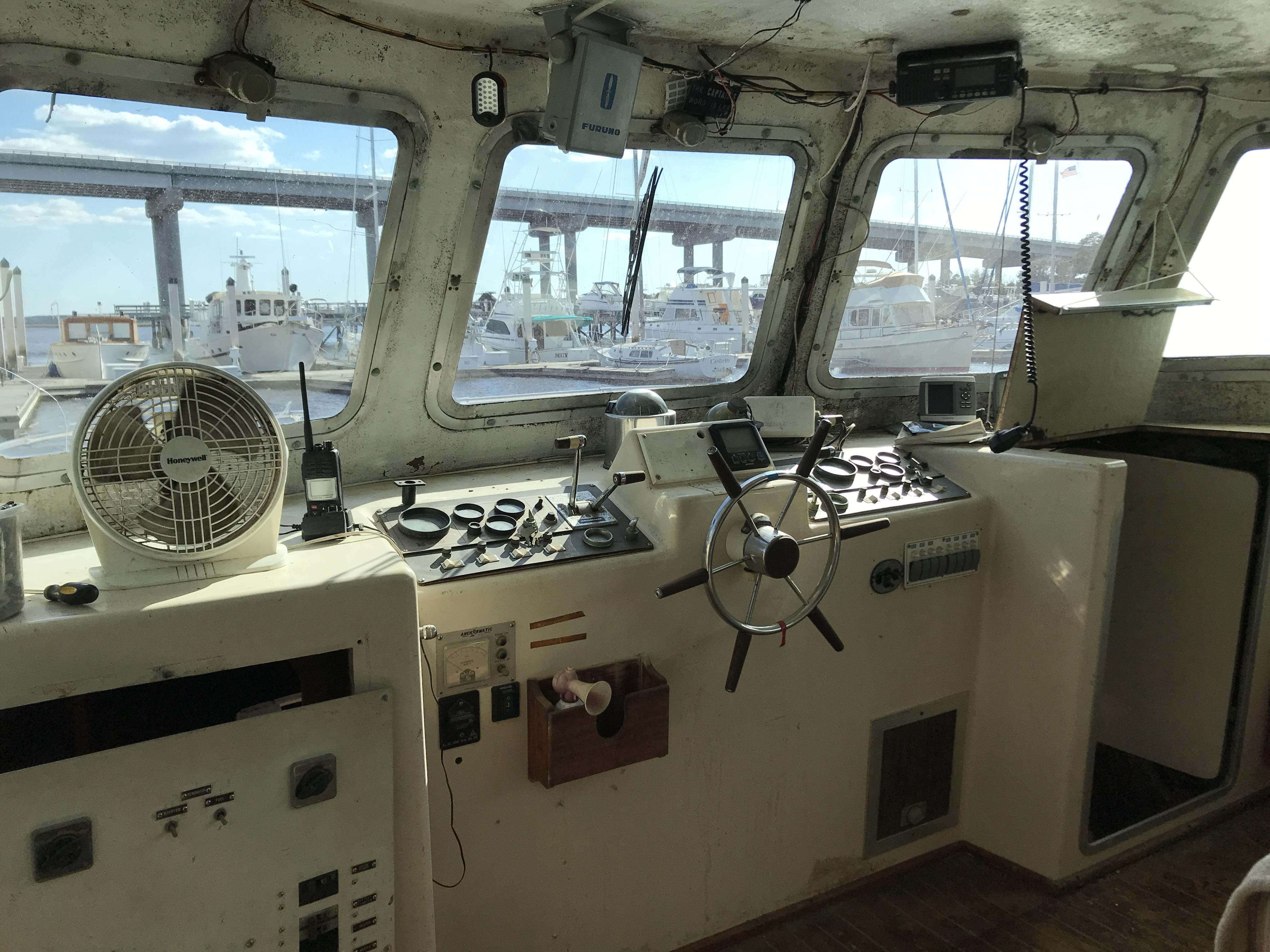 Carri-craft 57-ft Power Catamaran - lower helm
