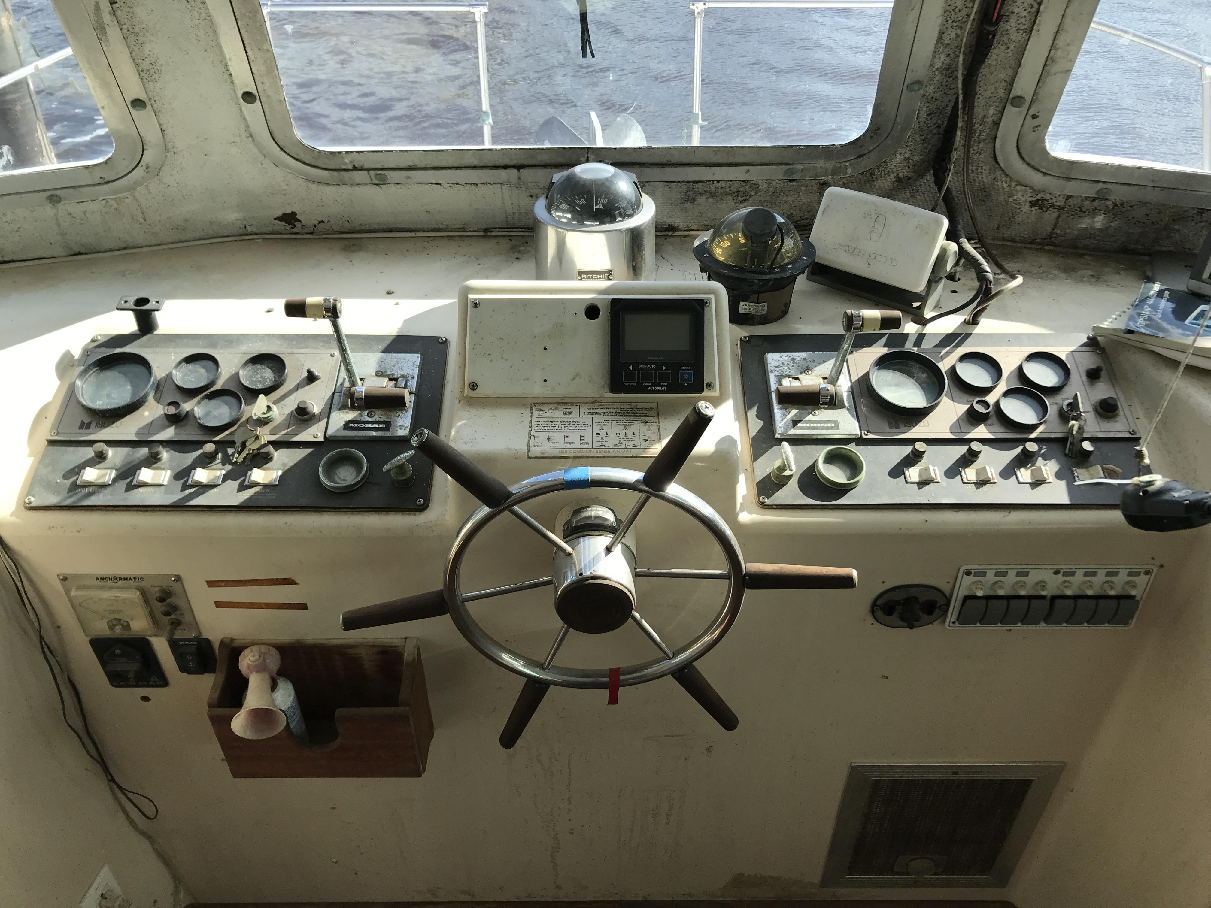 Carri-craft 57-ft Power Catamaran - lower helm station