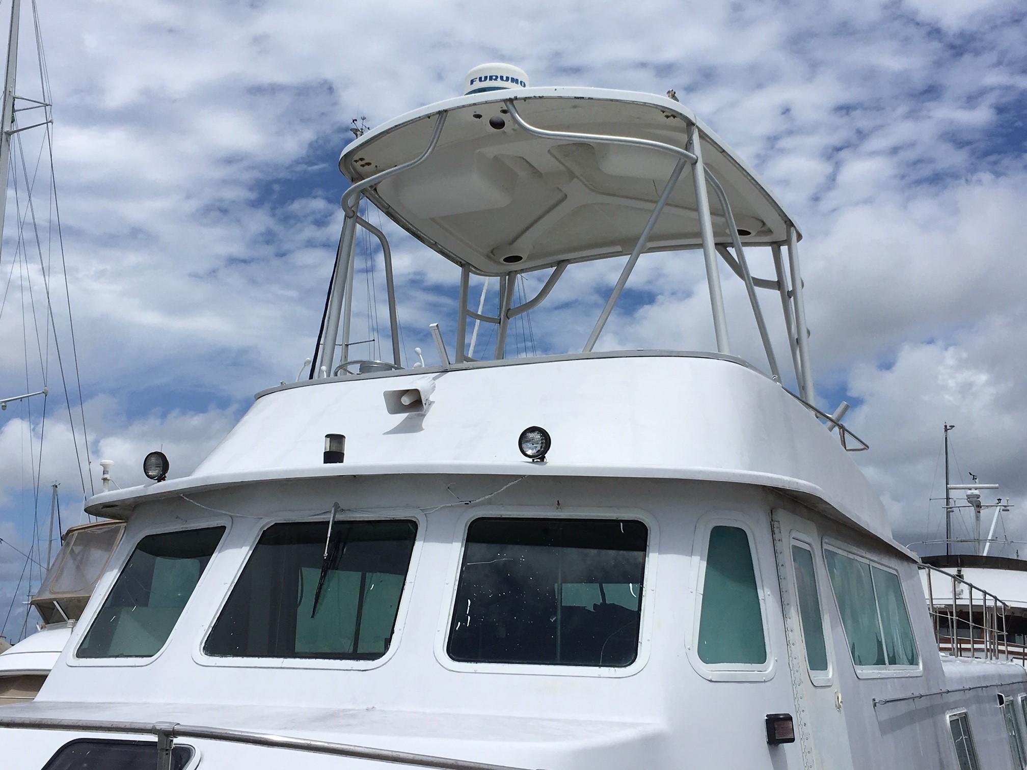 Carri-craft 57-ft Power Catamaran - carri-craft helm windows and upper helm