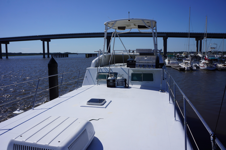 Carri-craft 57-ft Power Catamaran - view forward of top deck