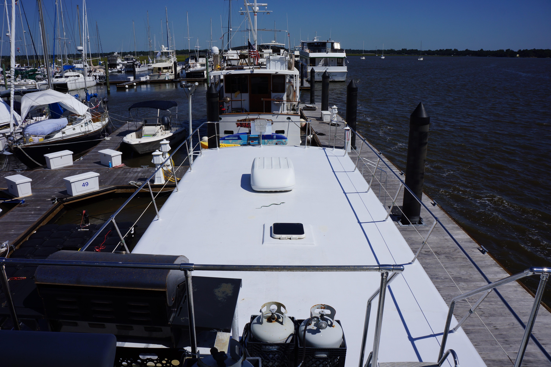 Carri-craft 57-ft Power Catamaran - view aft of top deck