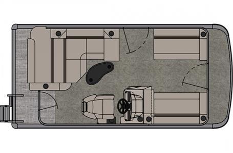 2021 Tahoe Sport Cruise Rear Bench 16'