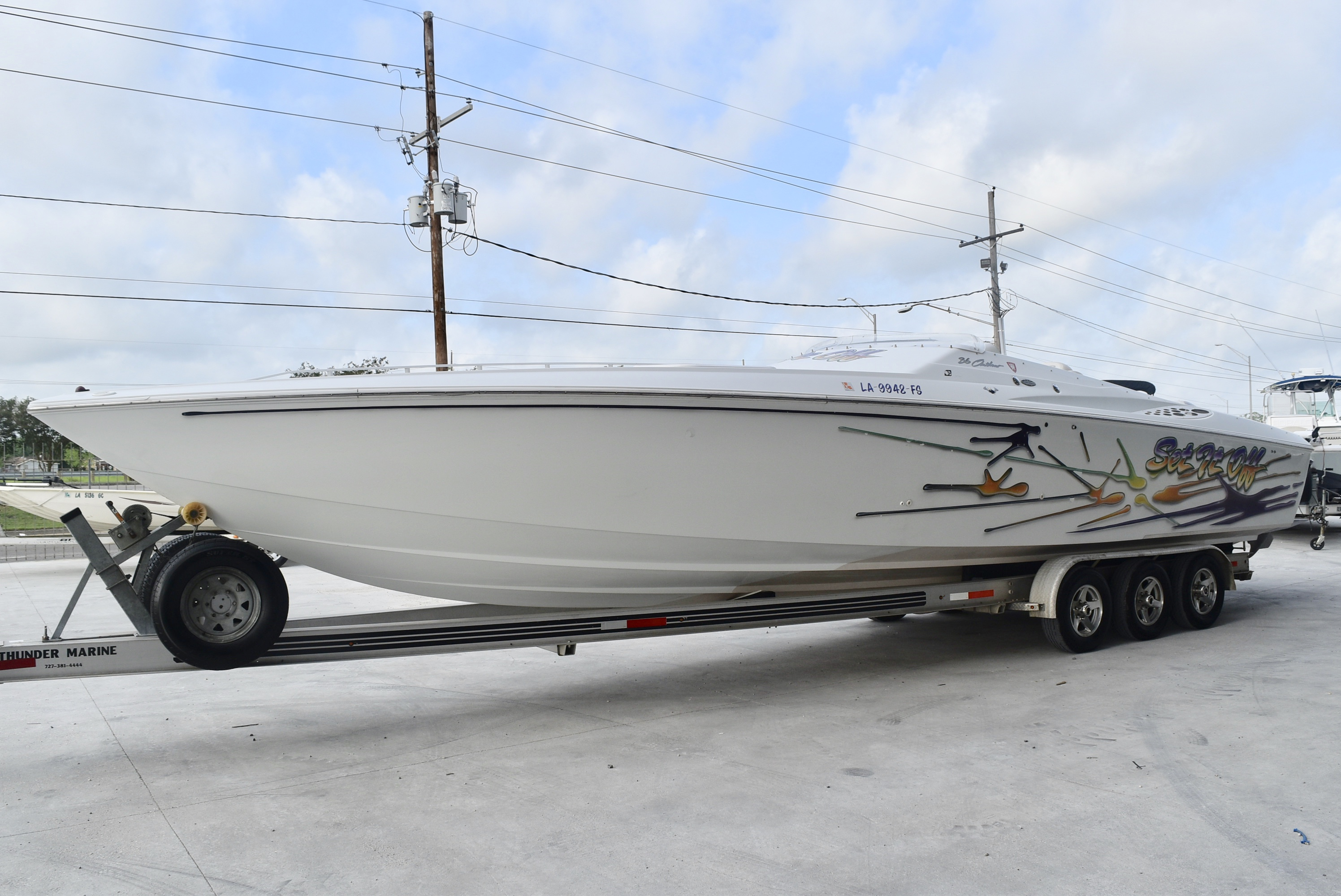 2001 Baja boat for sale, model of the boat is 36 & Image # 2 of 8