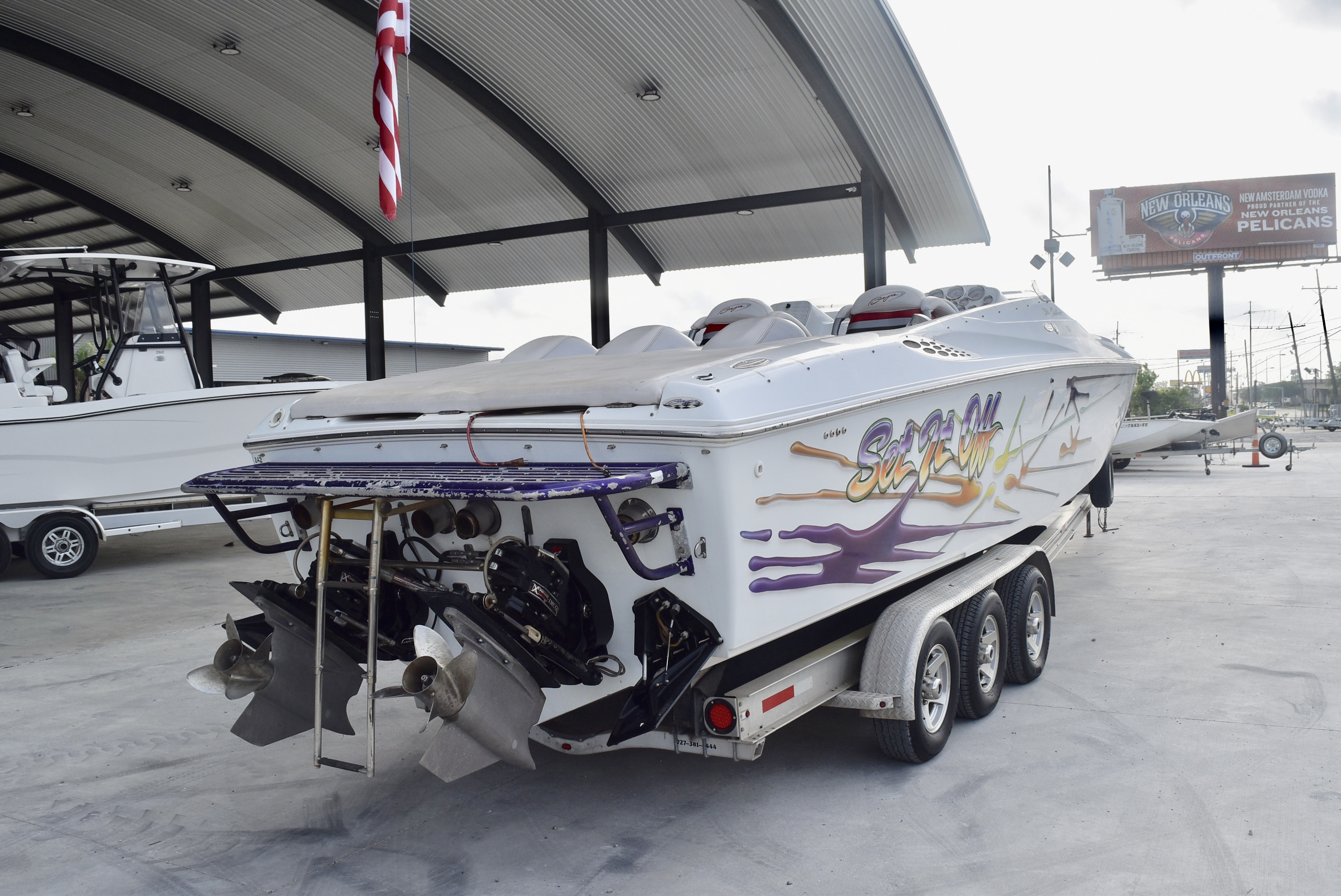 2001 Baja boat for sale, model of the boat is 36 & Image # 7 of 8