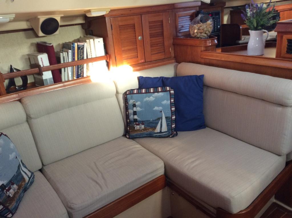 Starboard settee forward of nav station