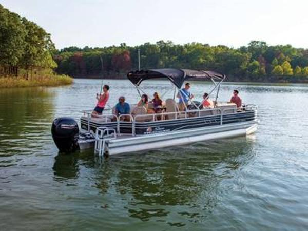 2020 Sun Tracker boat for sale, model of the boat is FISHIN' BARGE® 24 DLX & Image # 1 of 1