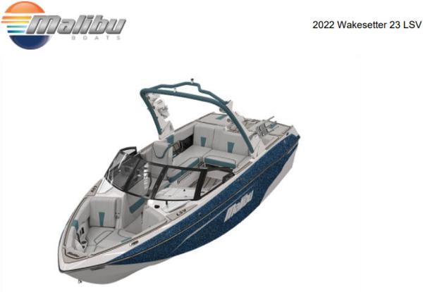 2022 Malibu 23 LSV Wakesetter
