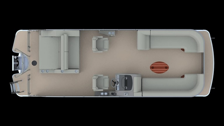 2021 GODFREY MARINE Monaco 255 Dual Flip Lounge Tritoon thumbnail