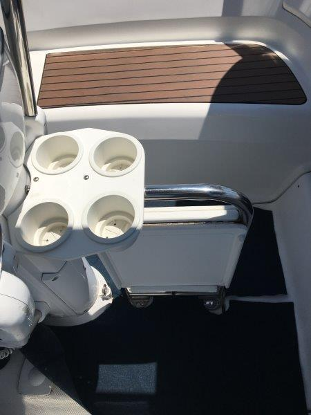 Drink Holder and drop leaf table in cockpit