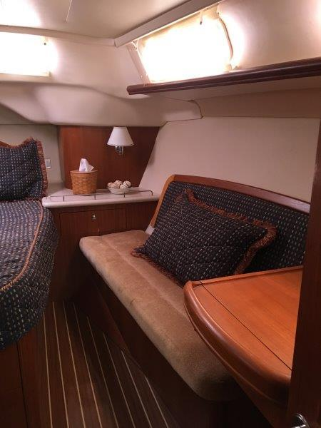 Settee in aft cabin