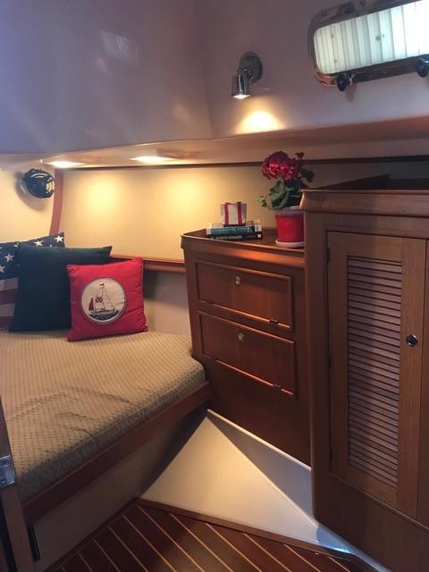Aft cabin with plenty of storage