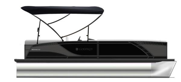 2021 Godfrey Pontoon boat for sale, model of the boat is Monaco 235 SB iMPACT  29 in. Center Tube & Image # 1 of 1