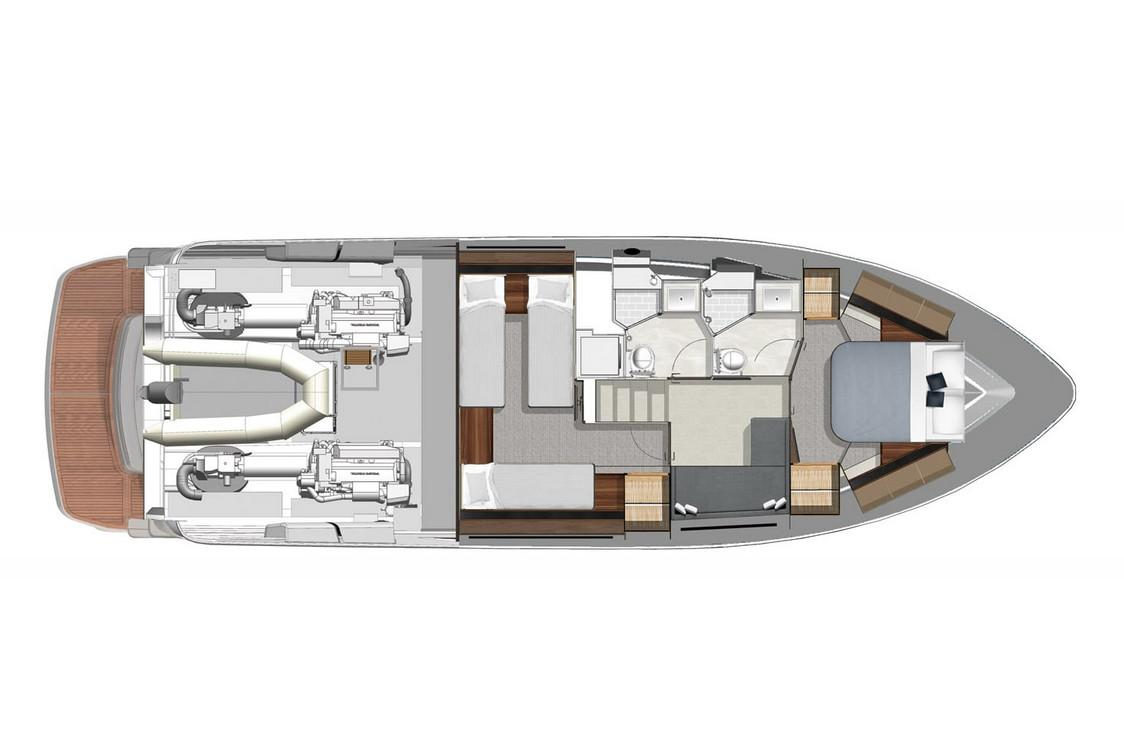 2022 Riviera 4800 Sport Yacht #R130 inventory image at Sun Country Coastal in San Diego