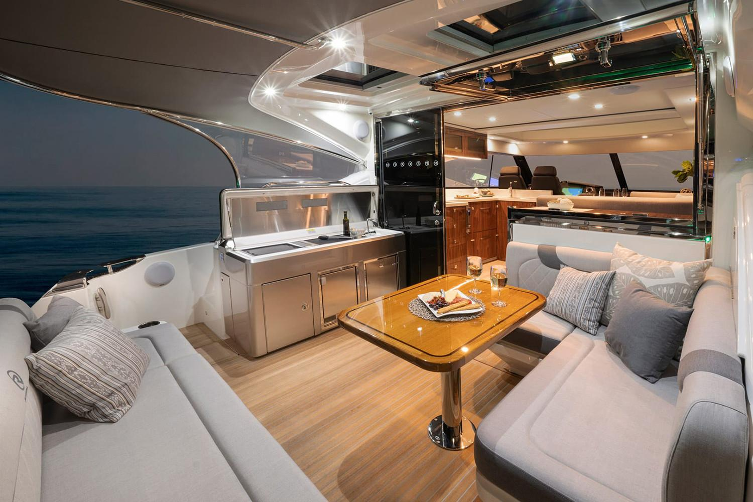 2021 Riviera 4800 Sport Yacht #R078 inventory image at Sun Country Coastal in Newport Beach